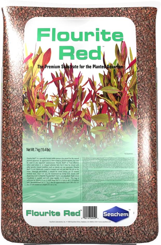 SEACHEM Flourite Red 7 kg substrat nutritif et décoratif de couleur rouge pour aquarium d\'eau douce