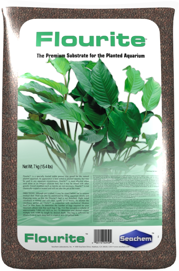 SEACHEM Flourite 7 kg substrat nutritif et décoratif pour aquarium d\'eau douce