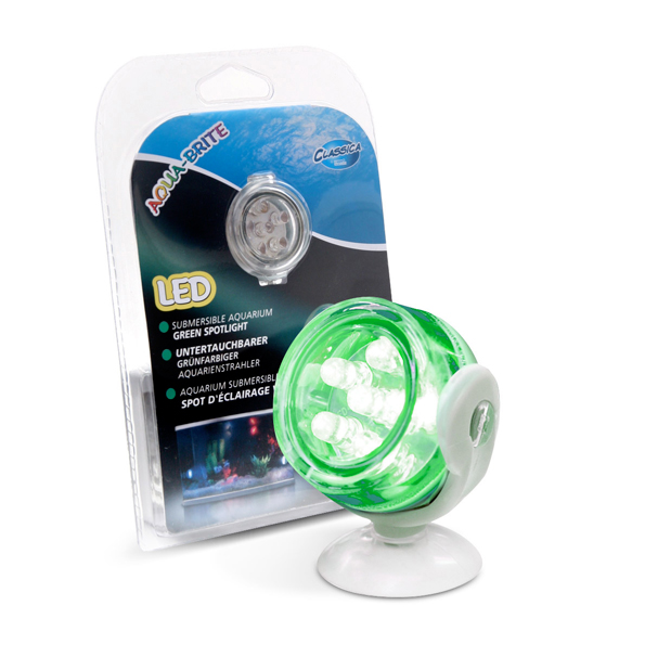 CLASSICA Aqua-Brite Spot USB submersible décoratif à 6 Leds Vertes pour aquarium