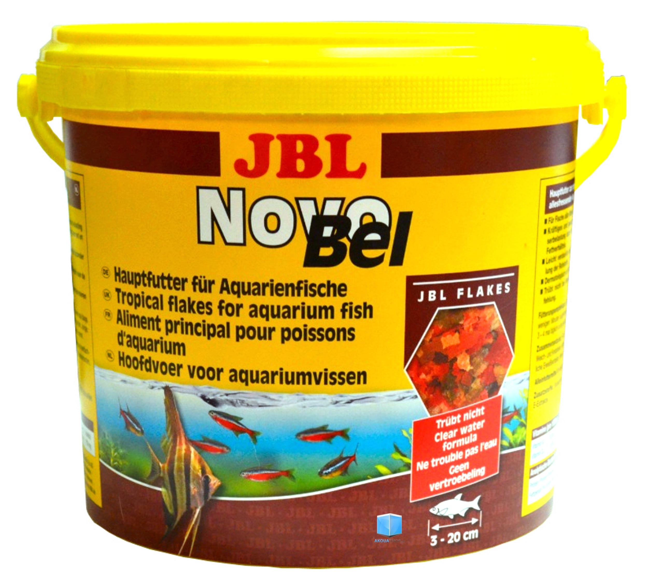 JBL NovoBel 5,5 L nourriture en paillettes pour tous les poissons exotiques