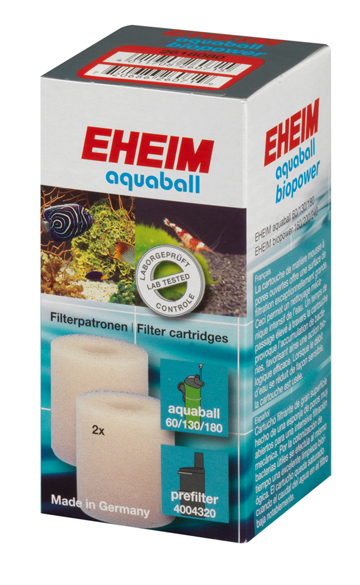 EHEIM Lot de 2 cartouches de mousse pour filtre AquaBall et BioPower