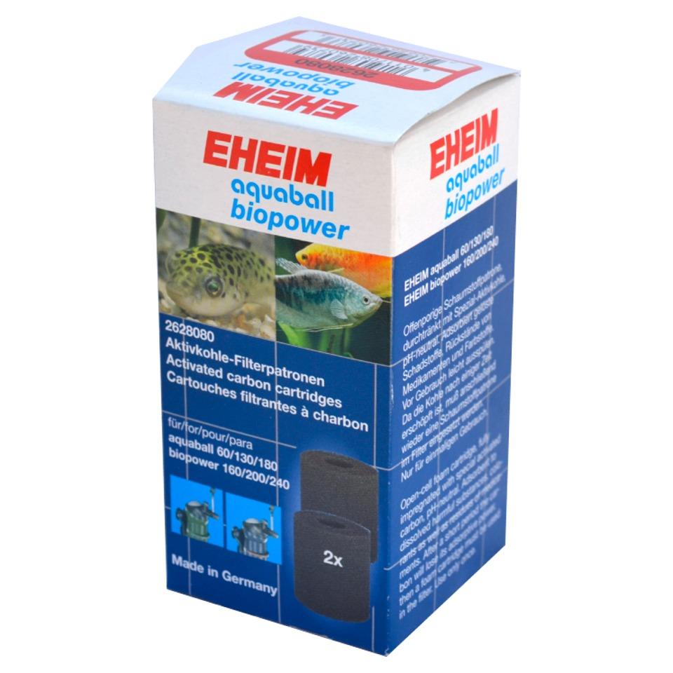 EHEIM Lot de 2 cartouches au charbon actif pour filtre AquaBall et BioPower