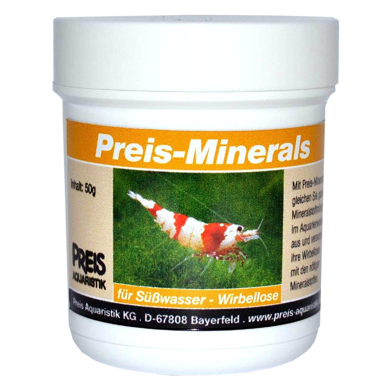 PREIS Minerals 50 gr. mélange de sels mineraux pour compenser les carences dans l'eau des aquariums d\'invertébrés