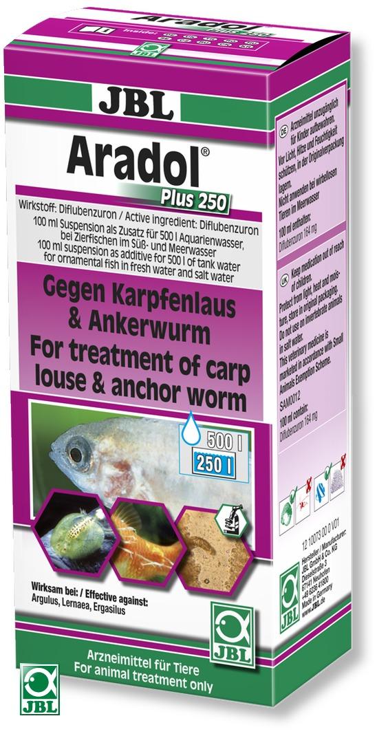 JBL Aradol Plus 250 contre les poux de la carpe, vers ancres et autre parasites