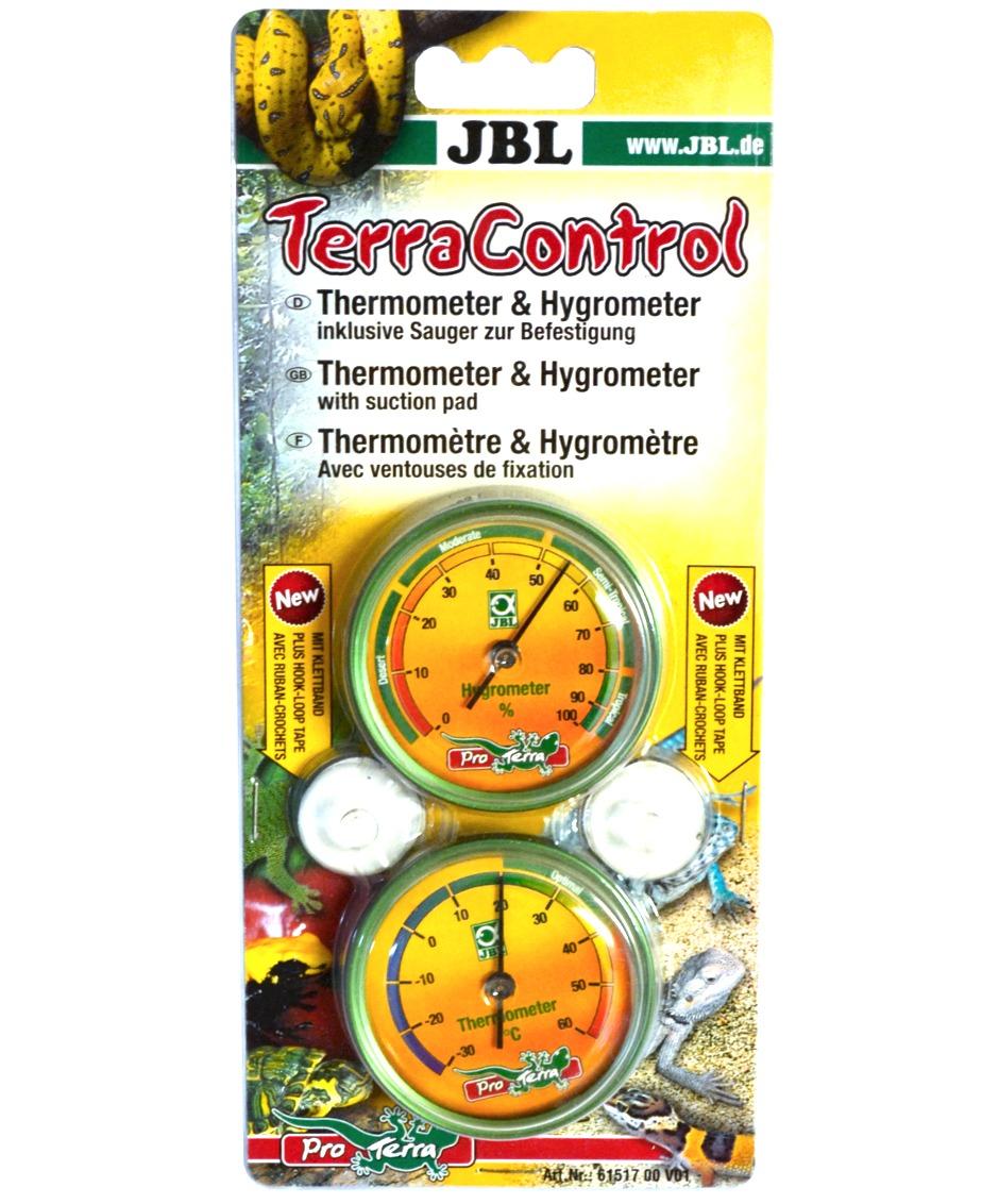 JBL TerraControl pour une mesure précise de la température et du taux d\'humidité dans les terrariums