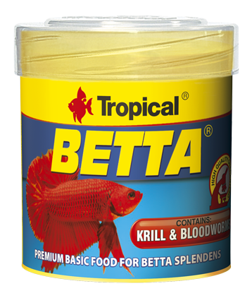 TROPICAL Betta 100ml nourriture de base avec krill et vers de sang pour Betta splendens