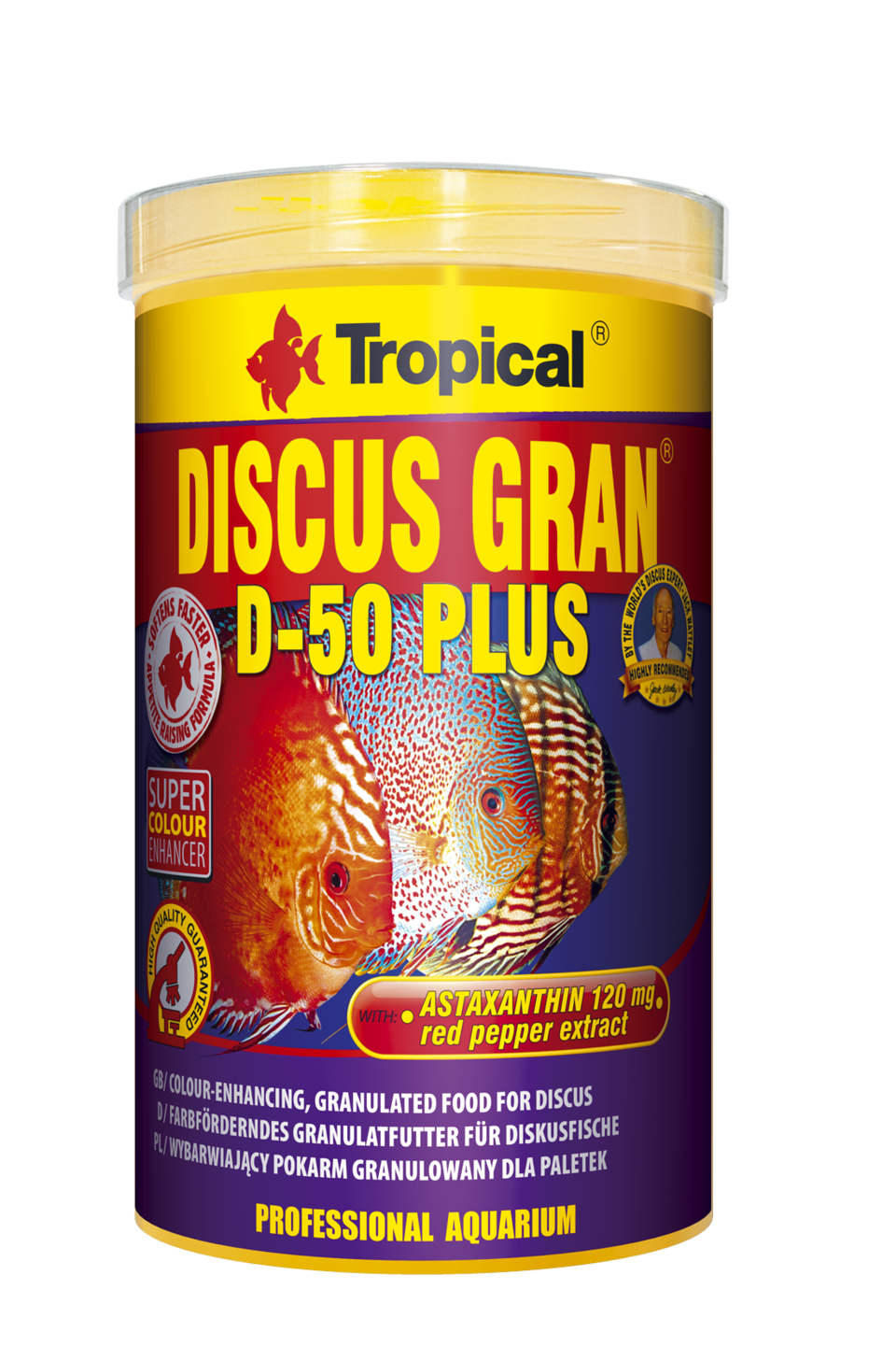 TROPICAL Discus Gran D-50 Plus 1000ml granules descendantes rehaussant la couleur pour discus