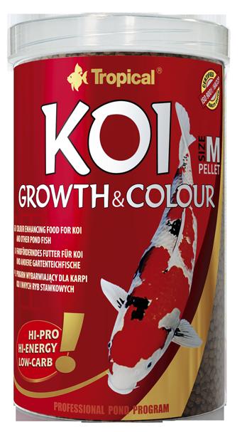 TROPICAL Koi Growth & Colour Pellet M 5L nourriture rehaussant la couleur pour koi et autres poissons de bassin