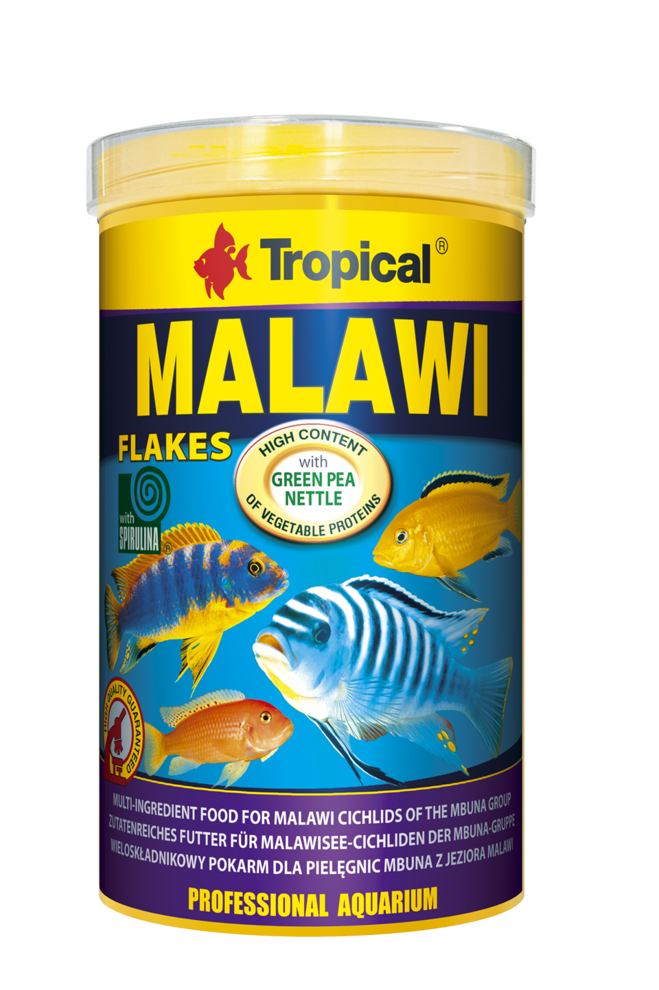 Tropical malawi 1000ml nourriture de base en flocons pour for Tropical nourriture poisson