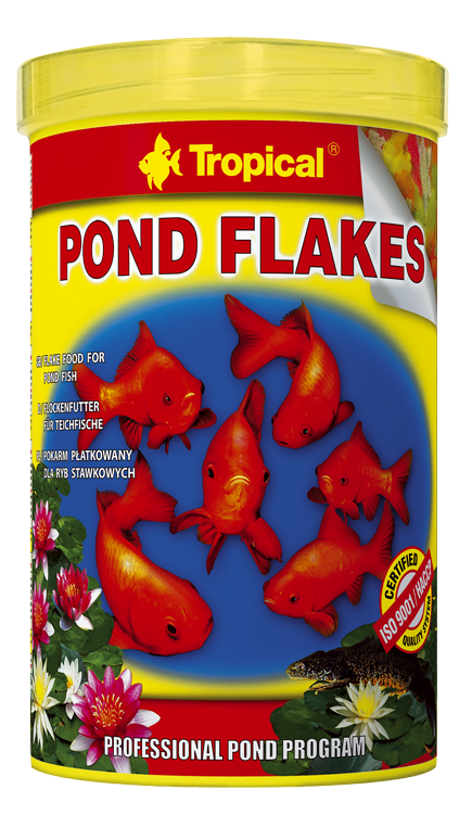 Tropical pond flakes 5l nourriture en flocons pour for Tropical nourriture poisson