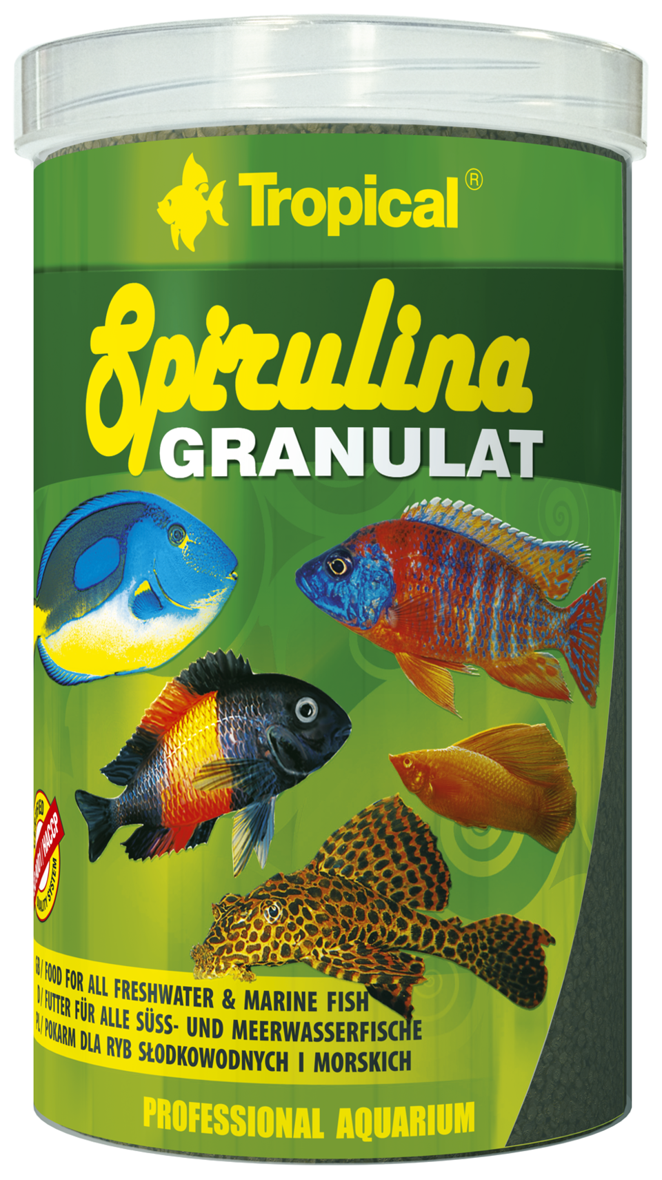 Tropical spirulina granulat 250ml nourriture en granul e for Tropical nourriture poisson