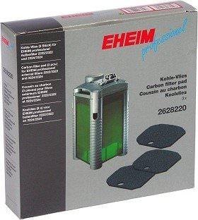 EHEIM Lot de 3 coussins de mousse au charbon actif pour filtre Eheim 2124, 2222, 2224, 2322, 2324, 2422, 2424