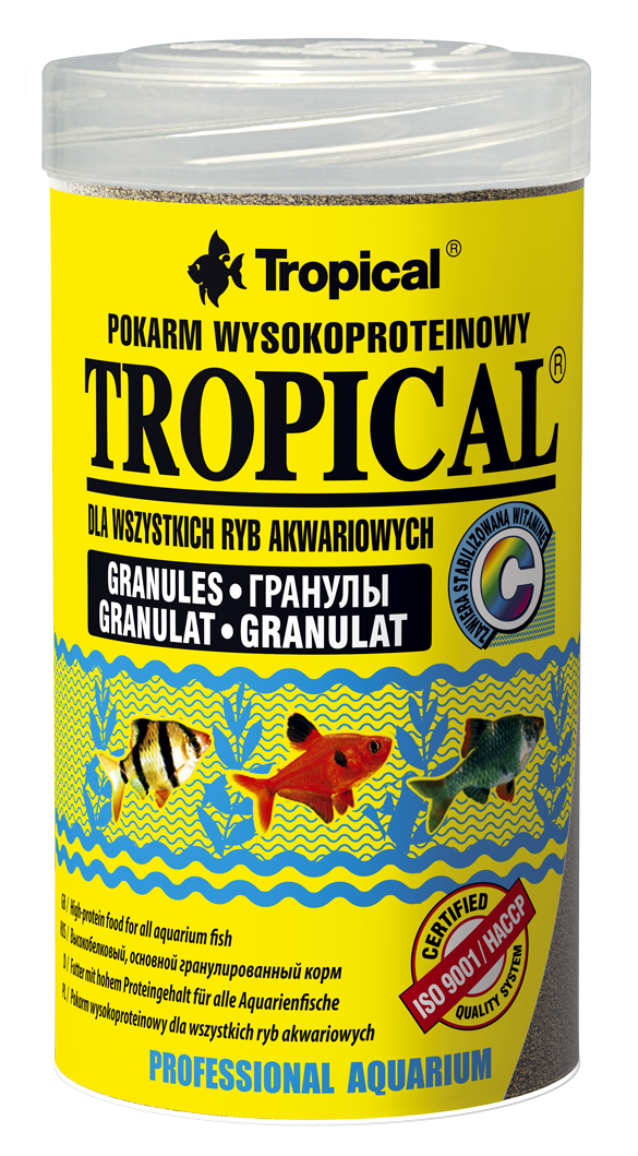 Tropical tropical granulat 100ml nourriture de base for Tropical nourriture poisson