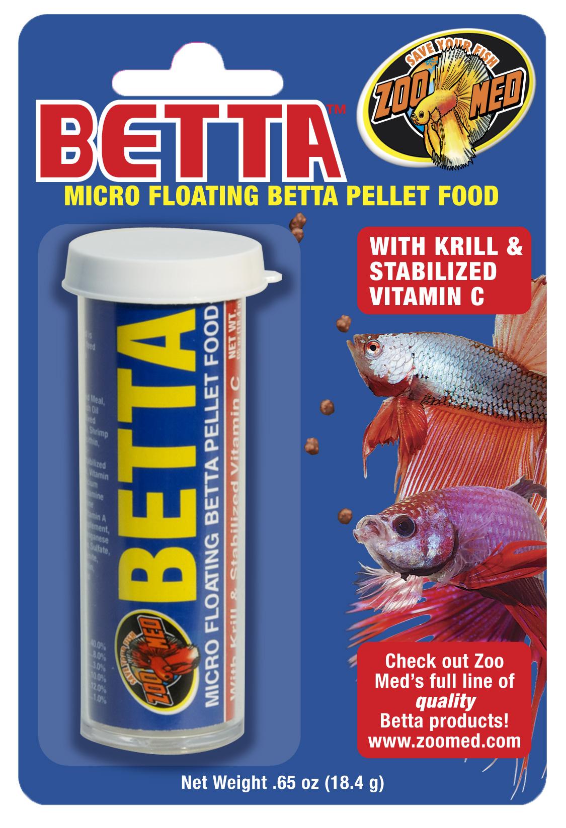 ZOOMED Micro Floating Betta Pellets 18,4 gr. nourriture spéciale combattant