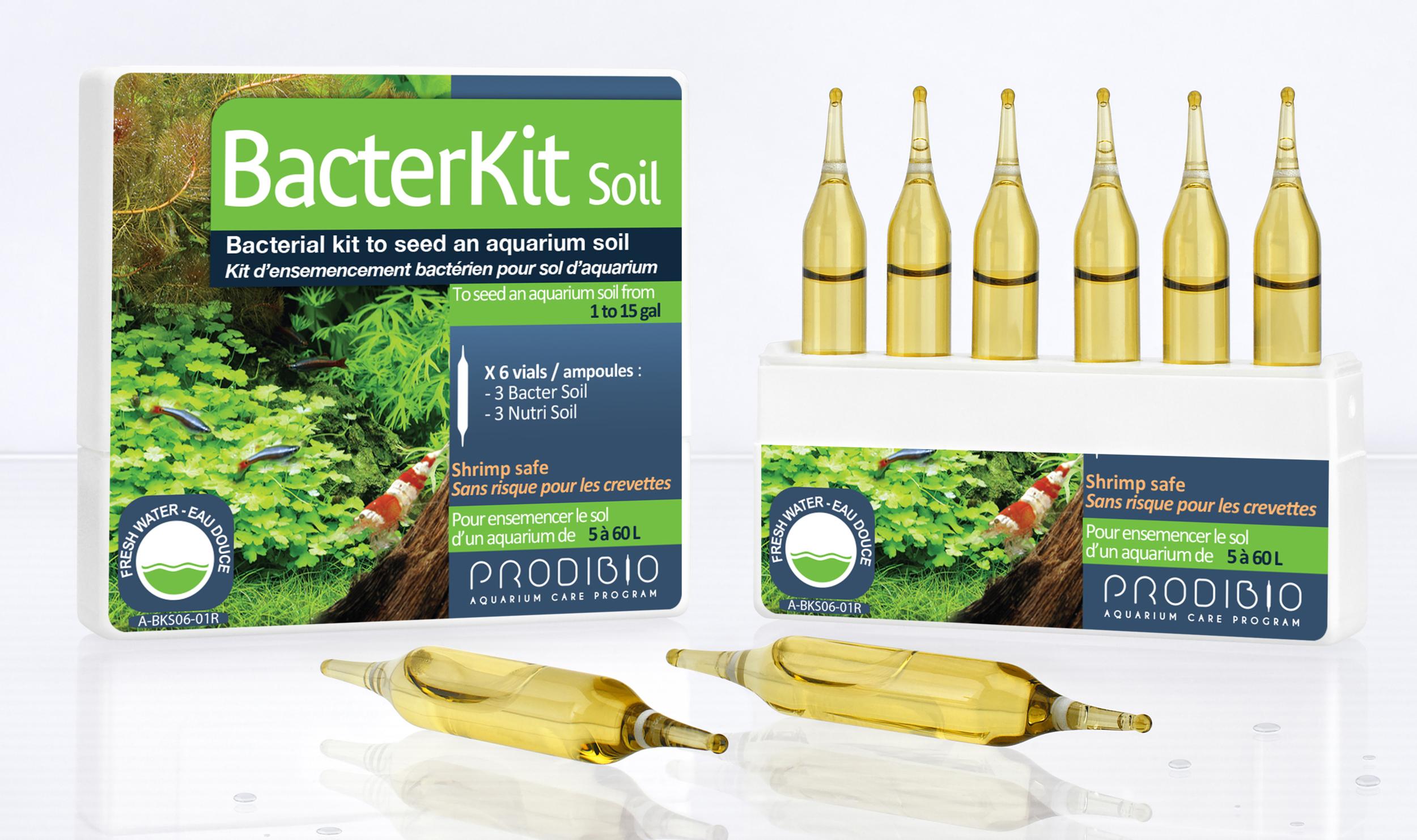PRODIBIO BacterKit Soil 6 ampoules kit d\'ensemencement bactérien pour sol. Traite jusqu\'à 60 L