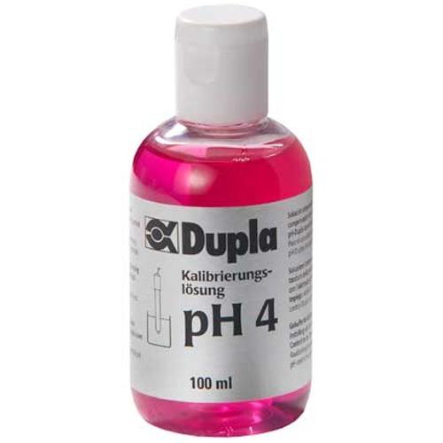 DUPLA Solution pH 4 100 ml solution d\'étalonnage pour électrodes pH