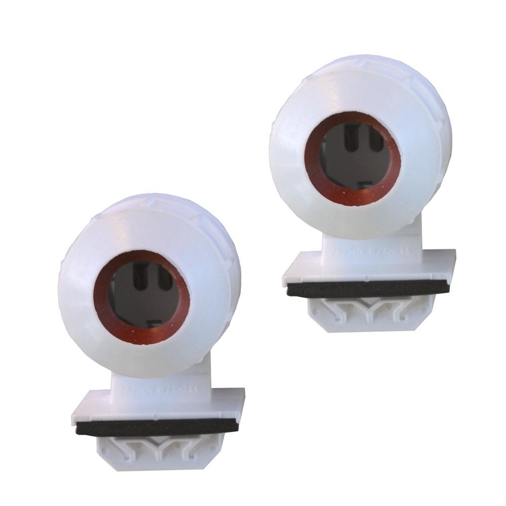 Paire de douilles étanches à clipser pour tube d\'éclairage T5 diam. 16mm