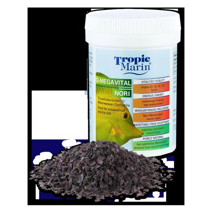 TROPIC MARIN O-MegaVital Nori 17 gr. nourriture à base d'algue rouge pour les poissons marins d'ornement