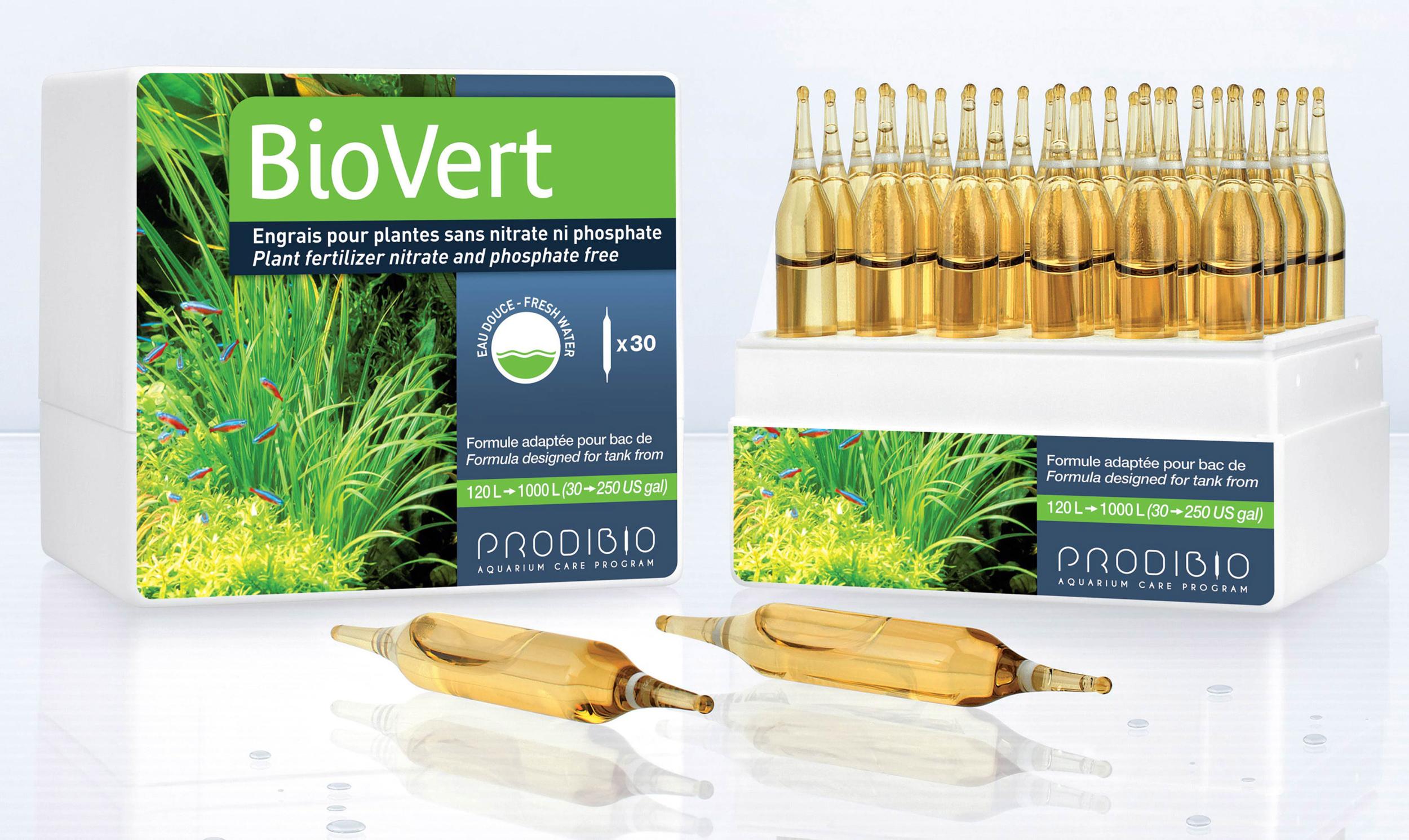 PRODIBIO BioVert 30 ampoules apporte l\'ensemble des éléments pour une bonne croissance des plantes. Traite jusqu\'à 6000 L