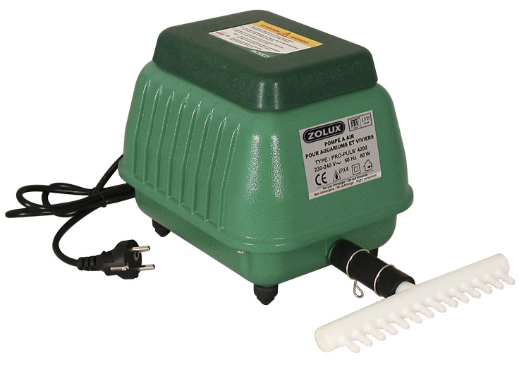 Aquarium zolux propuls 4200 pompe air 4200 l h avec for Pompe a air bassin exterieur