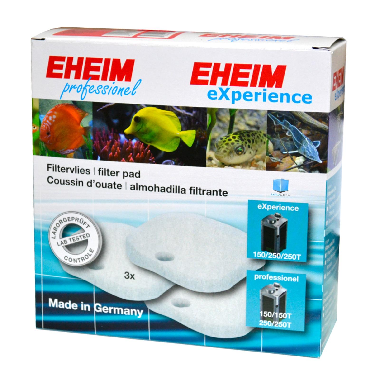 EHEIM Lot de 3 coussins d\'ouate pour filtre Eheim 2124, 2222, 2224, 2322, 2324, 2422, 2424