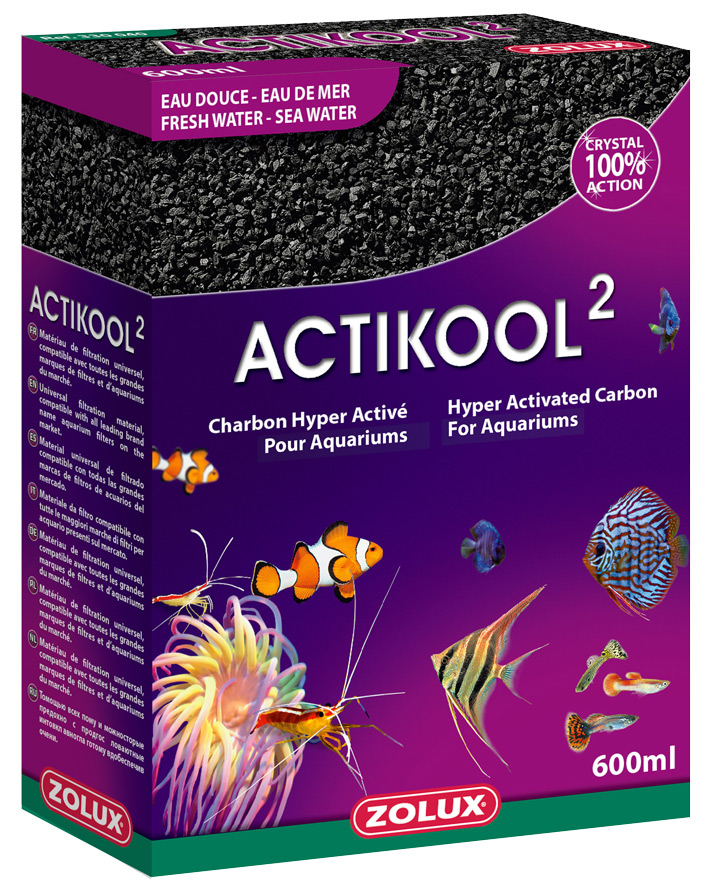 ACTIZOO ActiKool 2 600ml charbon super actif pour la clarification et l\'absorbtion des toxines en aquarium d\'eau douce et d\'eau de mer