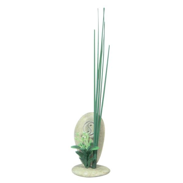 Décoration pour aquarium Galets Ying Yang 17 cm