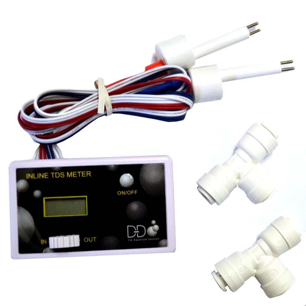 D&D Inline TDS Mètre détermine la conductivité de l\'eau à l\'entrée et la sortie de votre osmoseur inverse