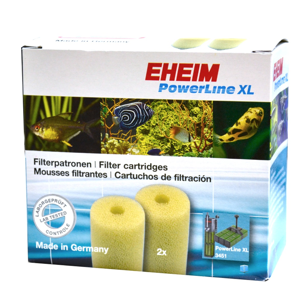 EHEIM Lot de 2 mousses filtrantes pour filtre Eheim Powerline 2252 et 3451