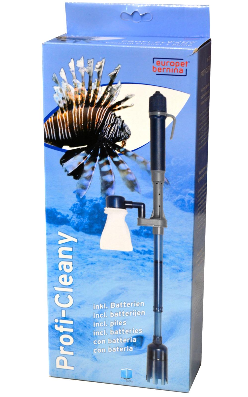 Europet profy cleany aspirateur piles avec fonction for Aspirateur aquarium