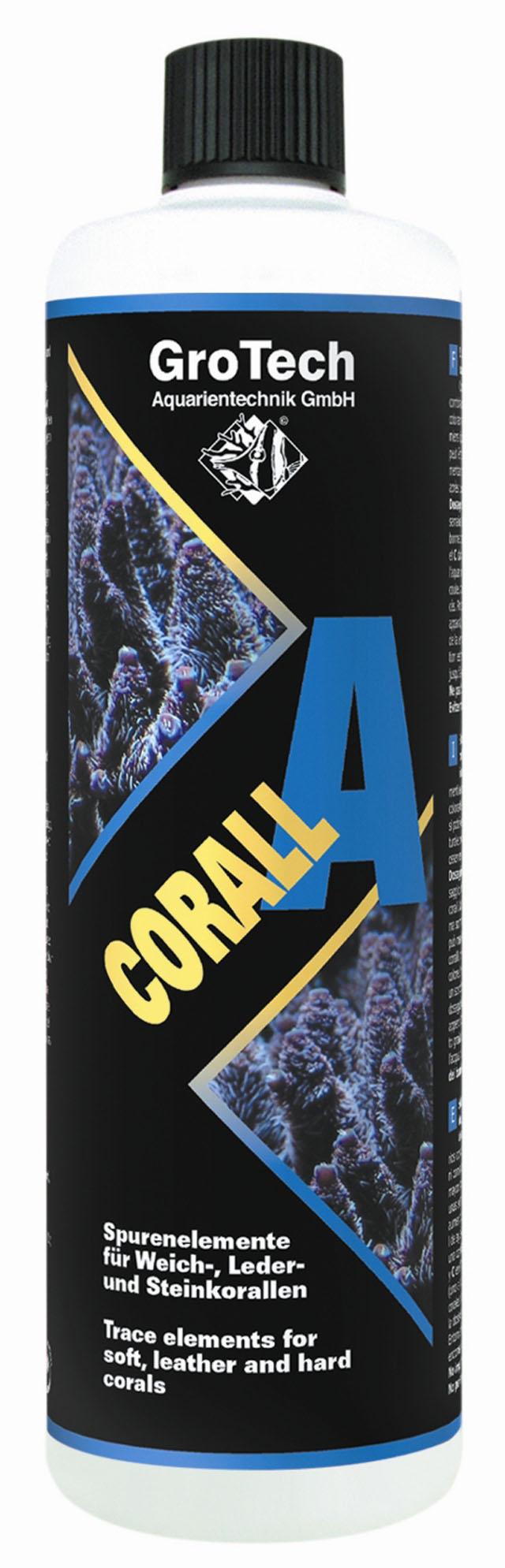 GROTECH Corall A 100 ml apporte les oligo-éléments essentiels aux coraux mous, cuirs et coraux durs