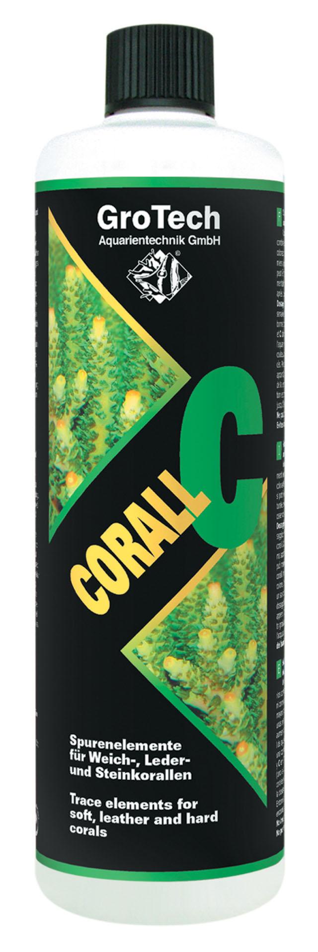 GROTECH Corall C 100 ml apporte les oligo-éléments essentiels aux coraux mous, cuirs et coraux durs