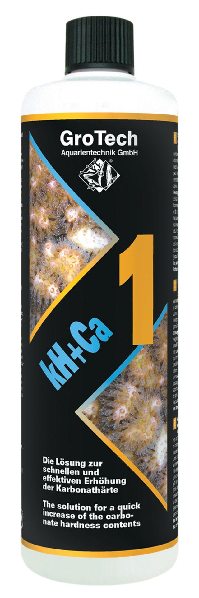 GROTECH kH+Ca 1 - 1000 ml augmente rapidement la dureté carbonatée de l\'eau en aquarium récifal