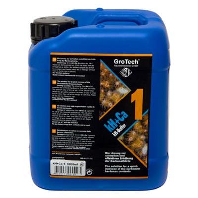 GROTECH kH+Ca 1 - 5 L augmente rapidement la dureté carbonatée de l\'eau en aquarium récifal