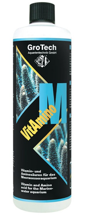 GROTECH VitAmino M 100 ml solution liquide contenant 12 vitamines et 20 acides aminés pour poissons et invertébrés marins
