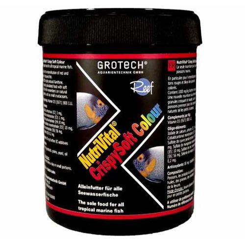 GROTECH NutriVital CrispySoft Colour 0,6 à 0,9 mm 285 ml nourriture sous forme de chips rehaussant la couleur des poissons marins