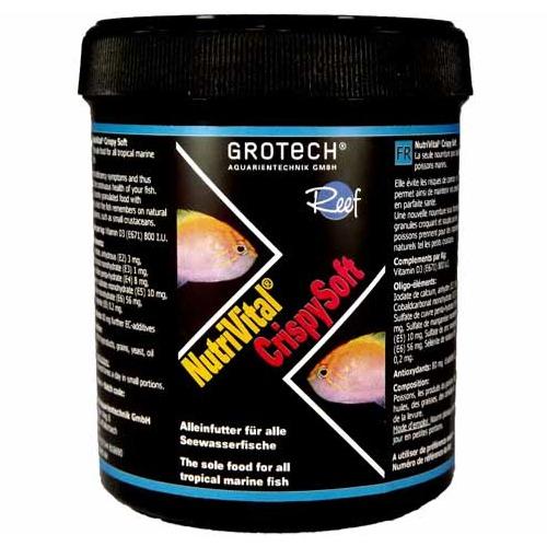 GROTECH NutriVital CrispySoft 0,6 à 0,9 mm 285 ml nourriture sous forme de chips pour poissons marins