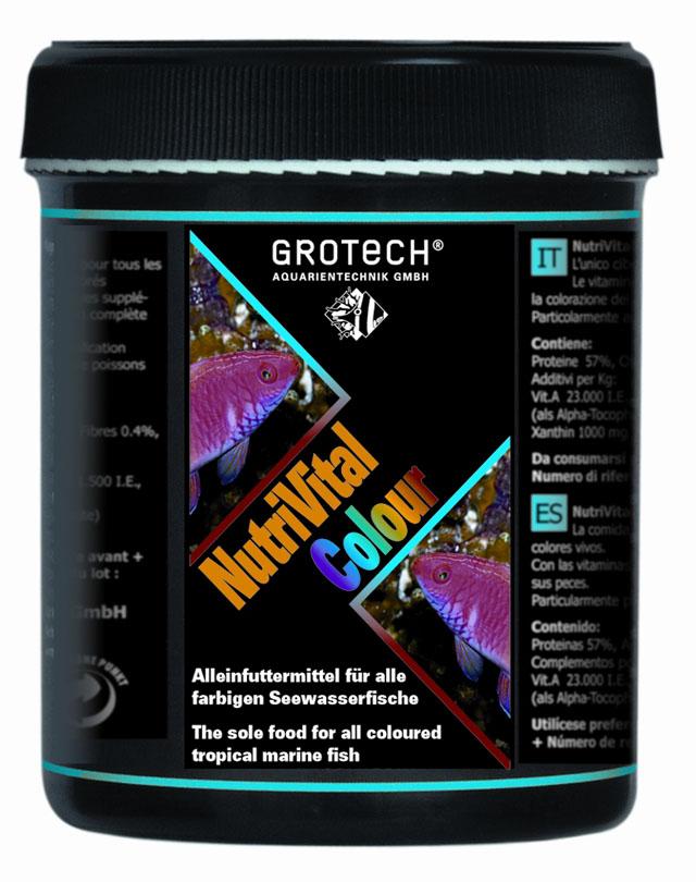 GROTECH NutriVital Colour 0,6 à 0,9 mm 285 ml nourriture en granulées rehaussant les couleurs des poissons marins