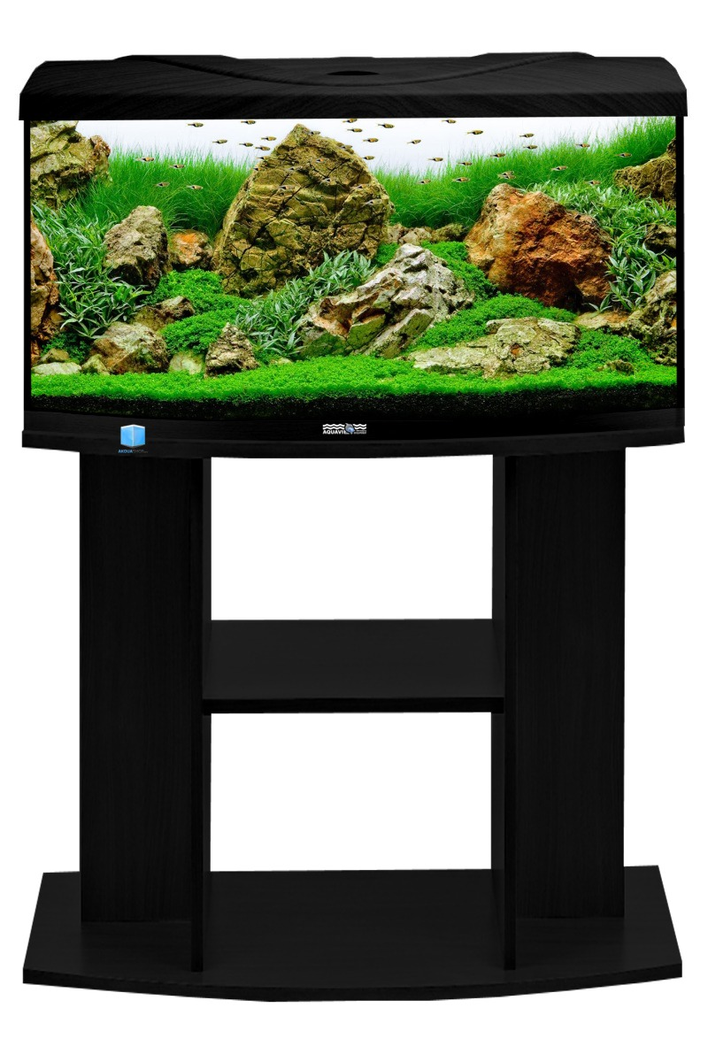 aquavie startup 80b noir aquarium 112 l avec vitre avant bomb tout quip 80 x 35 x 40 cm. Black Bedroom Furniture Sets. Home Design Ideas