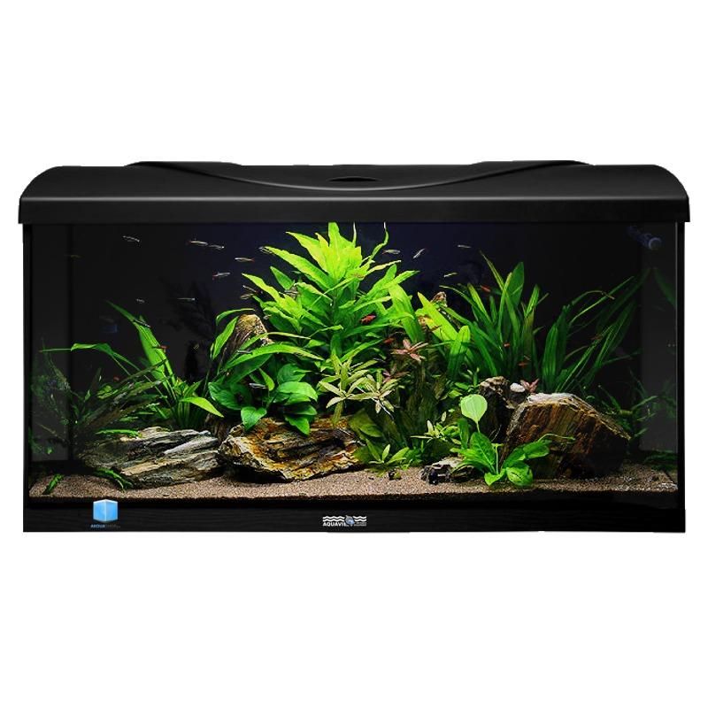 Aquavie startup 80 noir aquarium de 112l tout quip 80 x for Aquarium en ligne