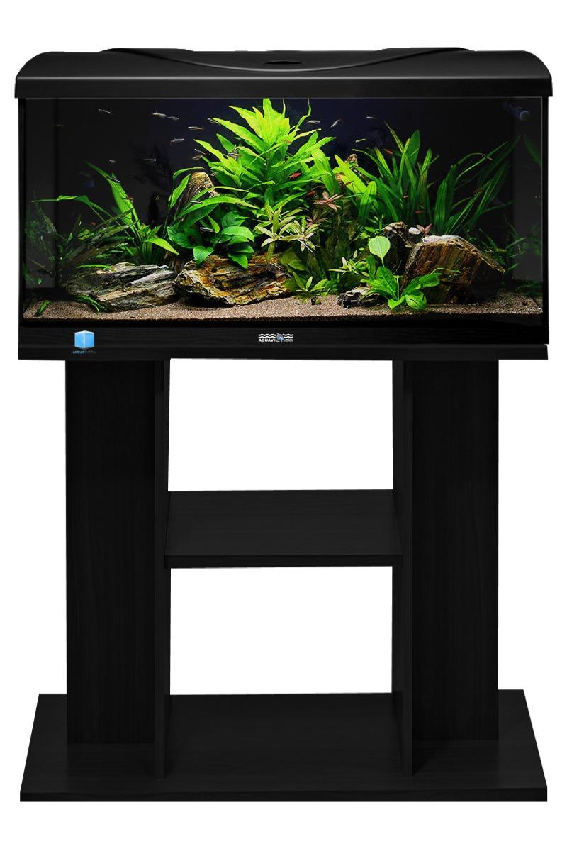 Aquavie startup 80 noir aquarium de 112l tout quip 80 x for Meuble 110 x 80