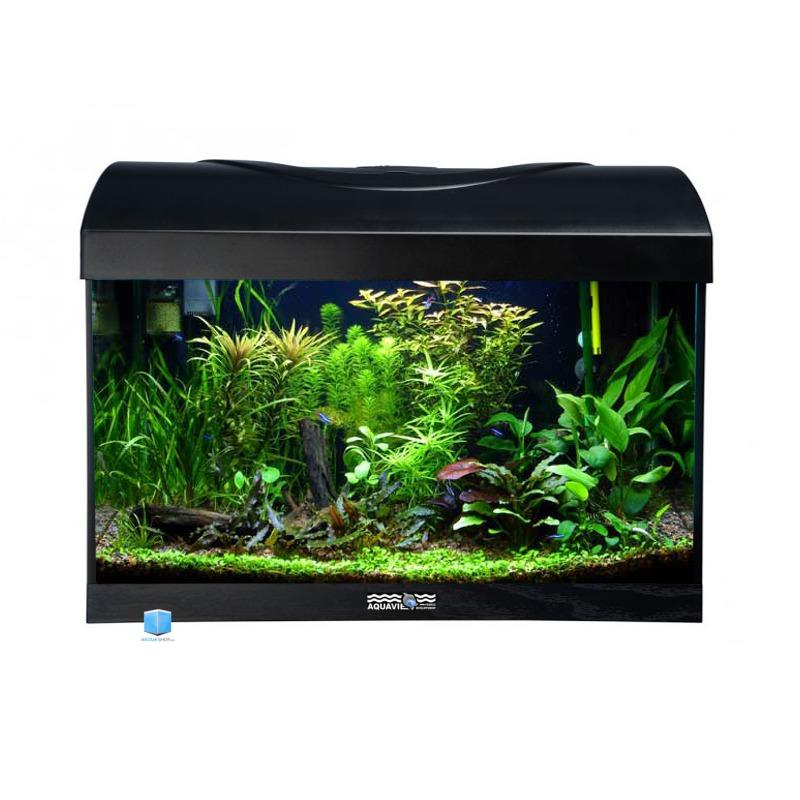 AQUAVIE StartUp 40 Noir aquarium de 25L tout équipé, 40 x 25 x 25 cm. Finition Haute gamme !