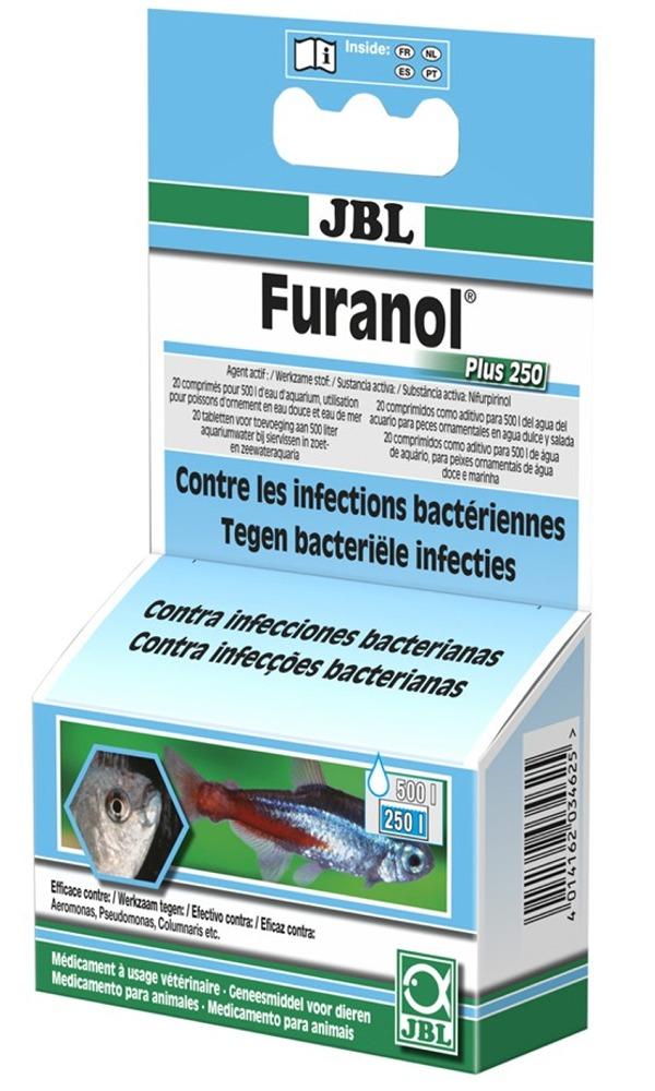 JBL Furanol Plus 250 médicament contre les infections bactériennes chez les poissons d\'eau douce et d\'eau de mer