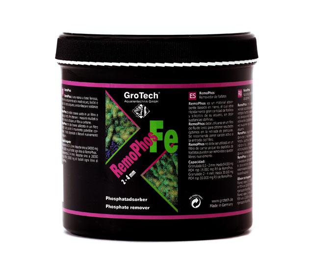 GROTECH RemoPhos FE 0,5 à 2 mm 1000 ml matériau de taille moyenne à base de fer pour l\'absorbtion des Phosphates