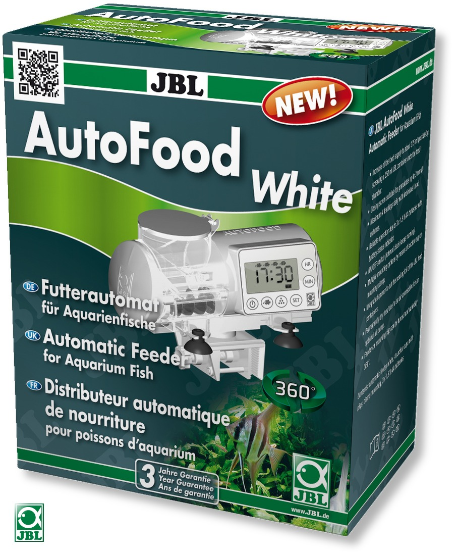 Jbl autofood white distributeur de nourriture automatique for Nourriture a poisson