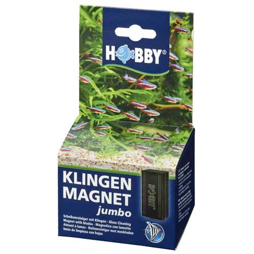 Aimant à lames HOBBY Jumbo pour l\'élimination facile des algues tenaces sur les vitres de l\'aquarium jusqu\'à 12 mm d\'épaisseur