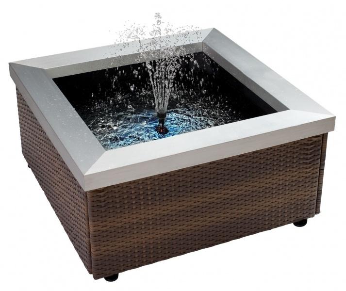 THEILING Bassin Lounge pour intérieur ou terrasse - Dimensions : 77,5 x 77,5 x 40 cm