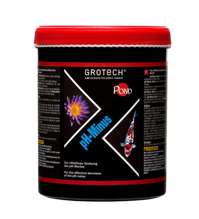 GROTECH pH-Minus 1 Kg diminue rapidement la valeur pH dans l\'eau des bassins de jardin