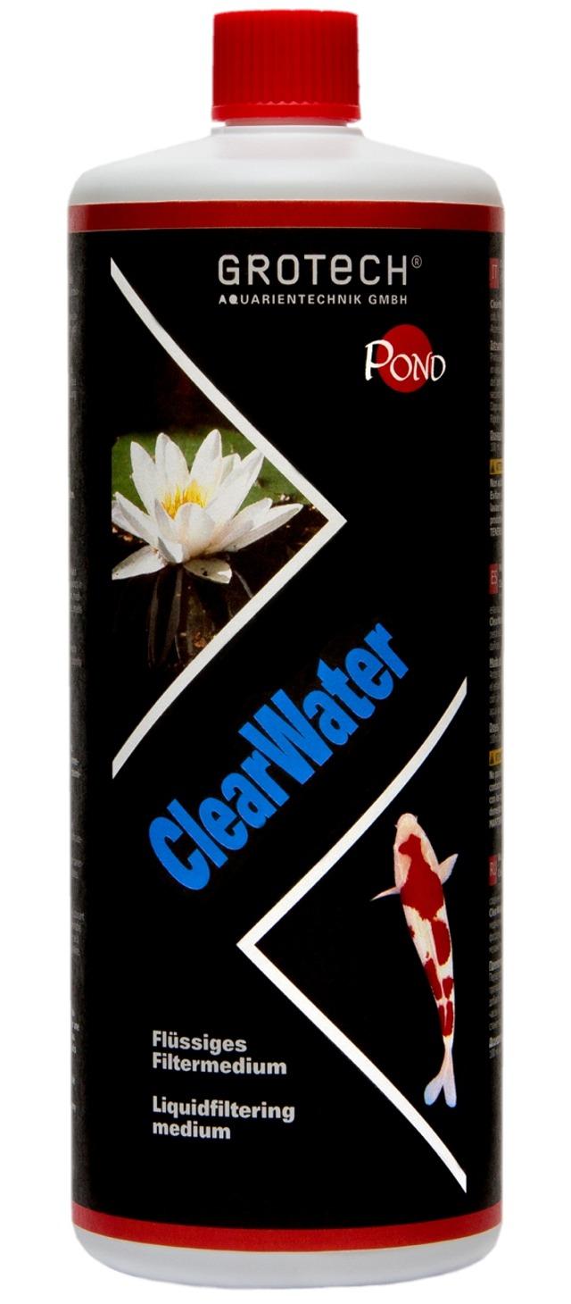 GROTECH ClearWater 1 L agent floculant pour un eau de bassin cristalline. Traite jusqu\'à 3000 L
