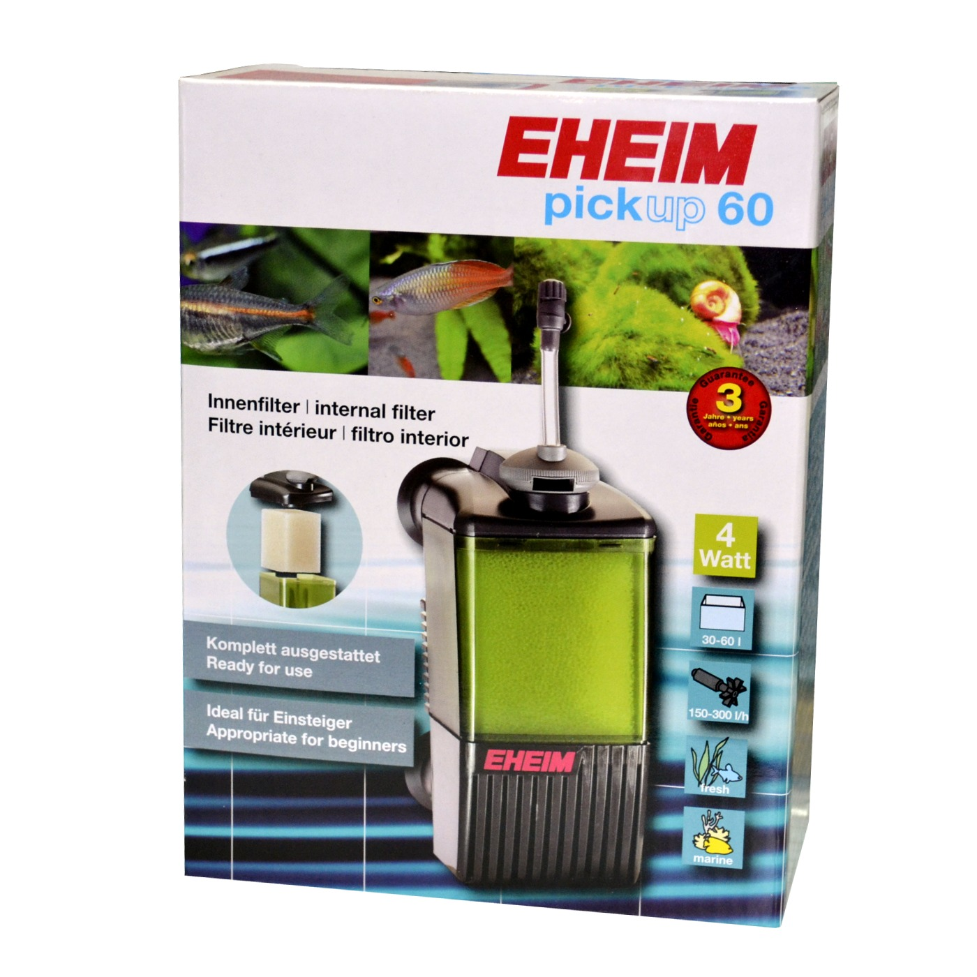 Eheim pickup 60 filtre interne pour aquarium de 30 60 l for Filtre petit aquarium